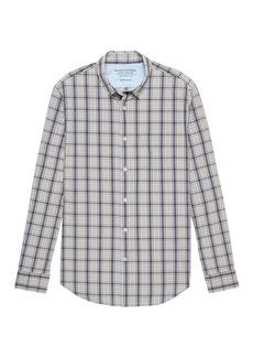 Banana Republic Grant Slim-Fit Luxe Poplin Plaid Shirt