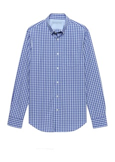 Banana Republic Grant Slim-Fit Luxe Poplin Plaid Shirt