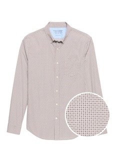 Banana Republic Grant Slim-Fit Luxe Poplin Print Shirt