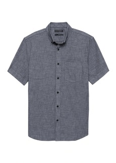 Banana Republic Grant Slim-Fit Luxe Poplin Short-Sleeve Chambray Shirt