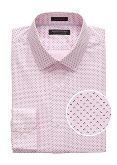 Banana Republic Grant Slim-Fit Non-Iron Dot Shirt