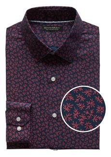 Banana Republic Grant Slim-Fit Non-Iron Leaf Print Shirt