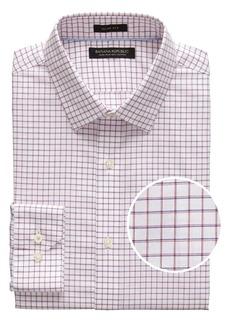 Banana Republic Grant Slim-Fit Non-Iron Mini Grid Dress Shirt
