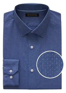 Banana Republic Grant Slim-Fit Non-Iron Dot Dress Shirt