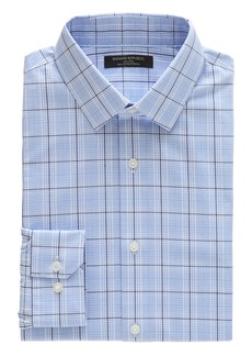 Banana Republic Grant Slim-Fit Non-Iron Plaid Dress Shirt