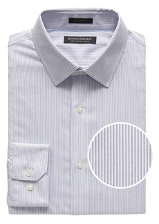 Banana Republic Grant Slim-Fit Non-Iron Stripe Dress Shirt