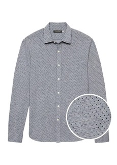 Banana Republic Grant Slim-Fit Performance Knit Shirt