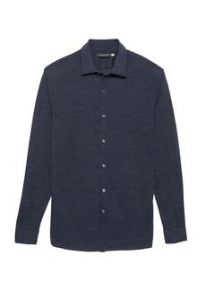 Banana Republic Grant Slim-Fit Performance Knit Textured Shirt