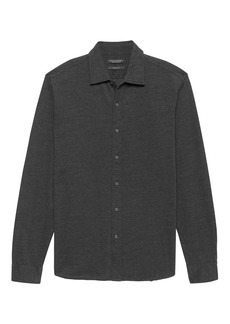 Banana Republic Grant Slim-Fit Performance Knit Textured Shirt