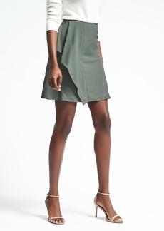 Banana Republic Green Flounce Skirt