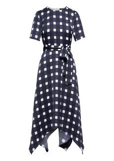 Handkerchief Hem Fit-and-Flare Dress