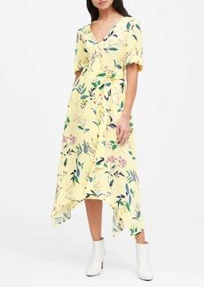 Banana Republic Handkerchief-Hem Wrap Dress