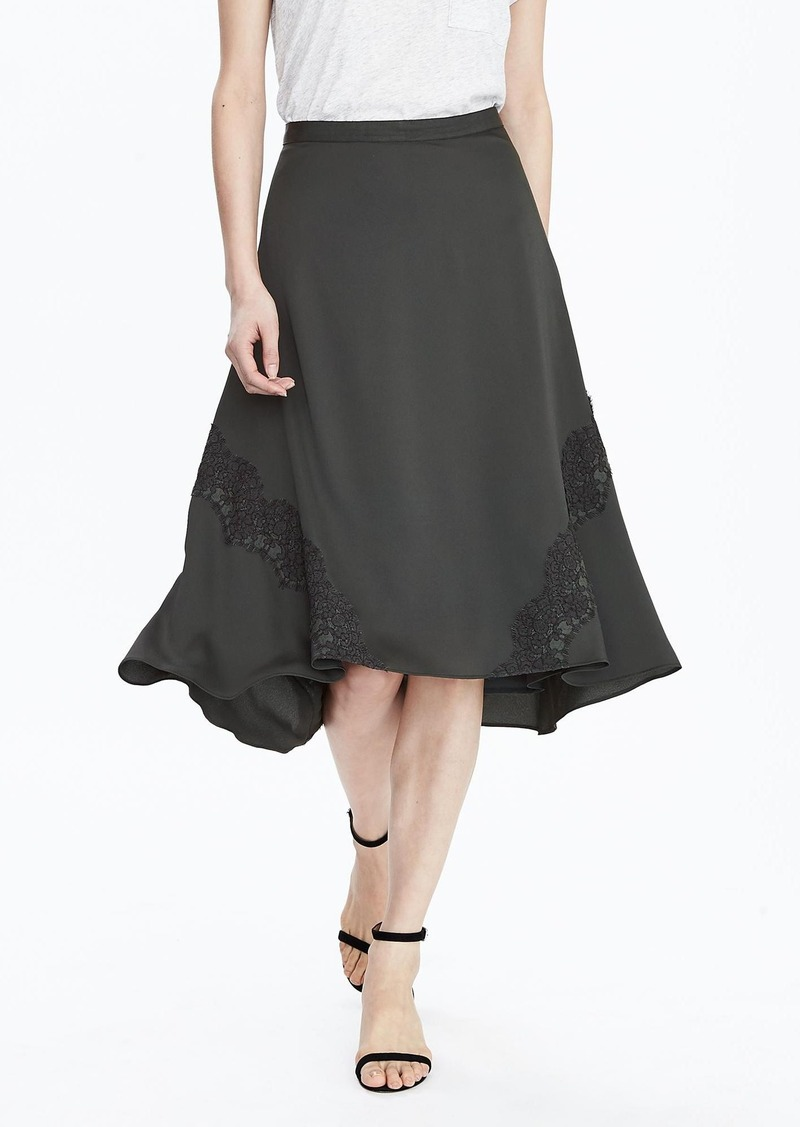 Banana Republic Handkerchief Lace-Trim Skirt