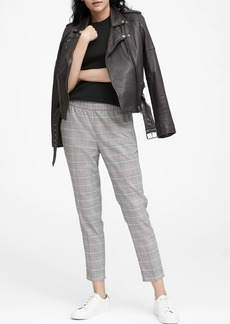 Banana Republic Hayden Tapered-Fit Plaid Pull-On Ankle Pant