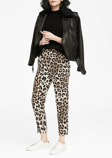Banana Republic Hayden Tapered-Fit Pull-On Leopard Print Ankle Pant