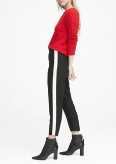 Banana Republic Hayden Tapered-Fit Pull-On Side-Stripe Ankle Pant
