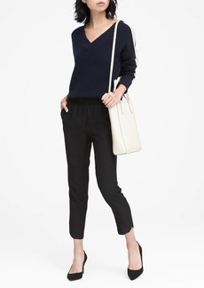 Banana Republic Hayden Tapered-Fit Pull-On Dolphin-Hem Ankle Pant