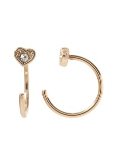Banana Republic Heart Open Huggie Hoop Earring