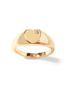 Banana Republic Heart with Stone Signet Ring