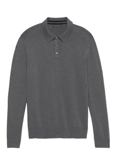 Banana Republic Heathered Cotton Sweater Polo