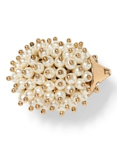 Banana Republic Hedgehog Pearl Brooch