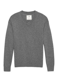 Banana Republic Heritage Alpaca-Blend Oversized V-Neck Sweater