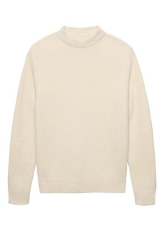 Banana Republic Heritage Alpaca-Blend Ribbed Mock-Neck Sweater