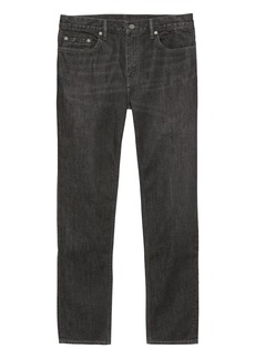 Banana Republic Heritage Athletic Tapered Black Rigid Jean