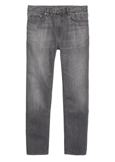 Banana Republic Heritage Athletic Tapered Gray Rigid Jean