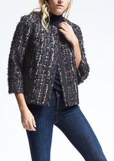 Heritage Collarless Crop Swing Jacket