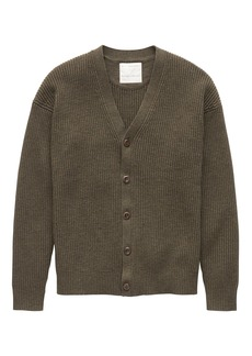 Banana Republic Heritage Cotton Ribbed Cardigan Sweater