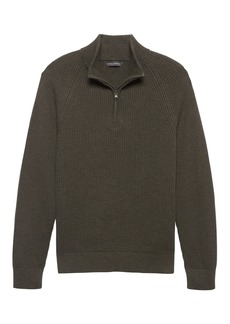 Banana Republic Heritage Cotton Half-Zip Sweater