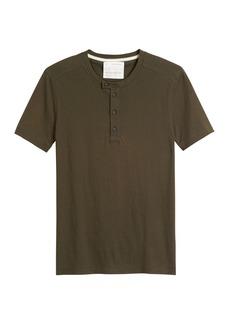 Banana Republic Heritage Cotton-Yak Wool Henley T-Shirt