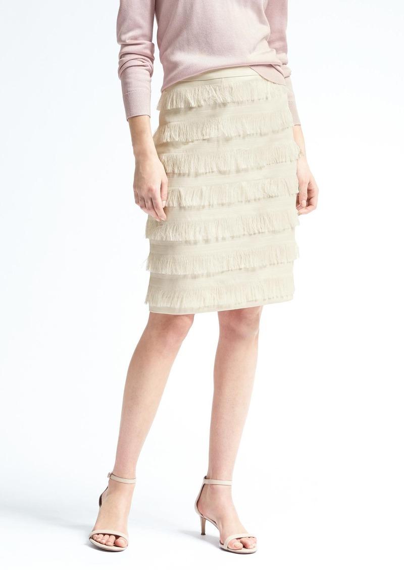 Fringe Pencil Skirt