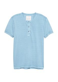 Banana Republic Heritage Garment Dyed Short-Sleeve Henley T-Shirt