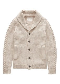 Banana Republic Heritage Italian Linen-Cotton Hand-Knit Cardigan Sweater