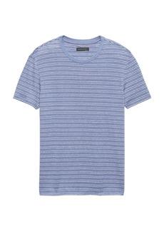 Banana Republic Heritage Linen-Cotton Stripe Crew-Neck T-Shirt