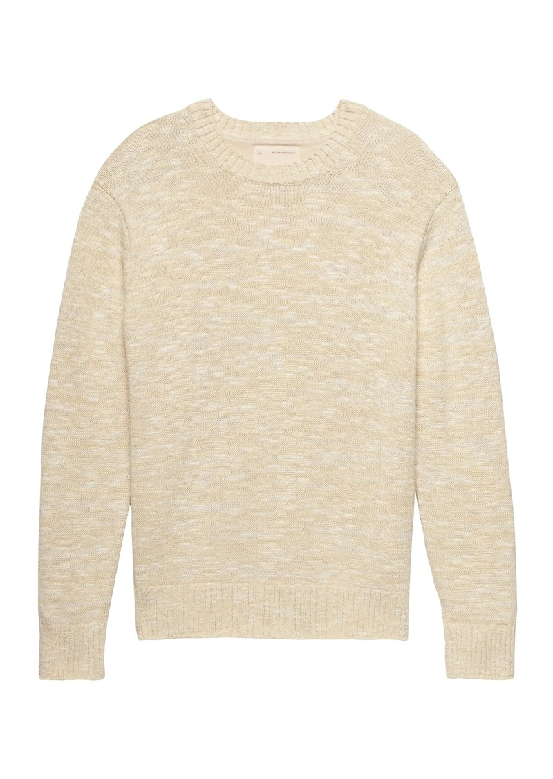 aaec35535fa Banana Republic Heritage Marled Cotton Crew-Neck Sweater