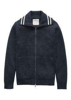 Banana Republic Heritage Milano-Stitch Cotton Full-Zip Sweater Jacket