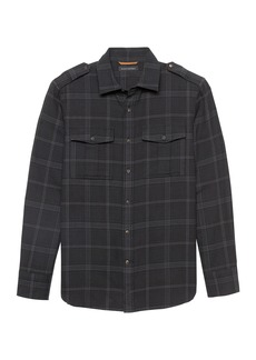 Banana Republic Heritage NEW Slim-Fit Flannel Plaid Shirt Jacket