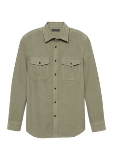 Banana Republic Heritage Slim Moleskin Shirt Jacket