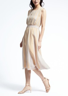Heritage Sleeveless Ribbon Midi Dress
