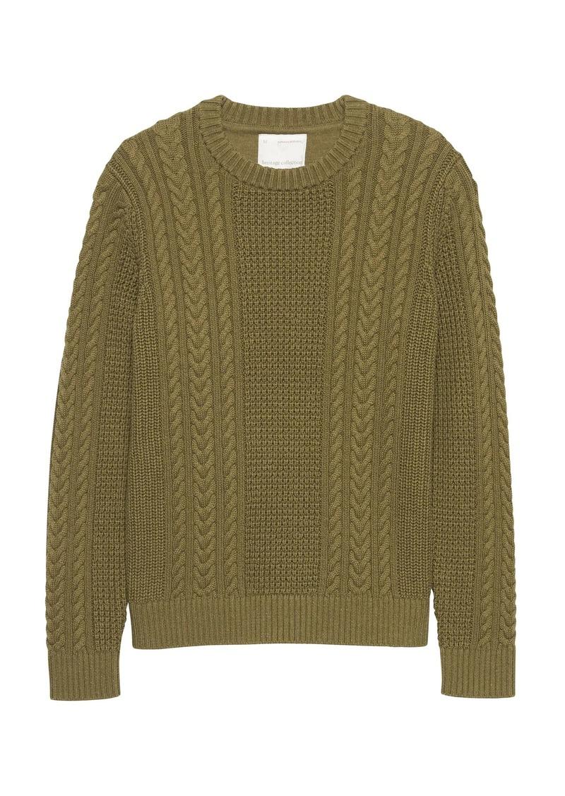 f5147bda8e6491 Banana Republic Heritage SUPIMA® Cotton Cable-Knit Sweater