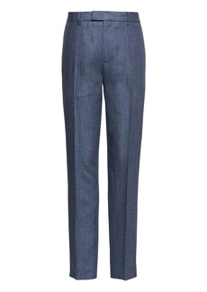 Banana Republic Heritage Athletic Tapered Linen Pinstripe Pant