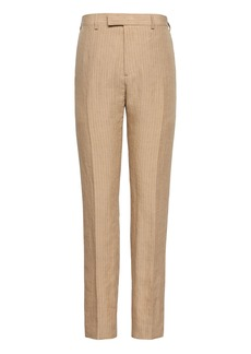 Banana Republic Heritage Tapered Pinstripe Italian Linen Suit Trouser