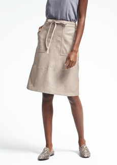 Banana Republic Heritage Washed Leather Wrap Skirt