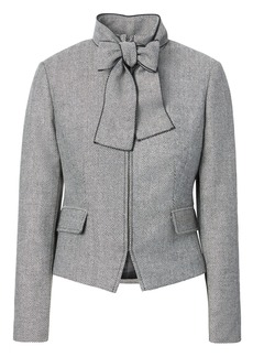 Banana Republic Herringbone Bow-Neck Jacket