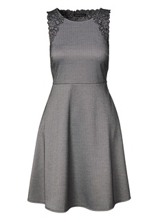 Banana Republic Herringbone Embroidered Fit-and-Flare Dress
