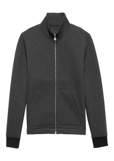 Banana Republic Herringbone Neoprene Full-Zip Track Jacket