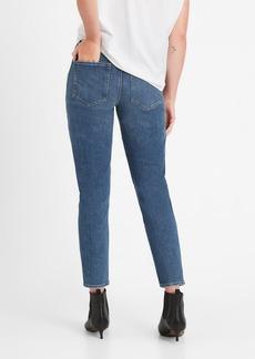 Banana Republic High-Rise Straight Jean with Split Hem